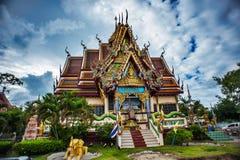 Пагода с голубым небом в Таиланде Стоковая Фотография
