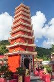 пагода 9-этажа на 10 тысяч монастыре Buddhas Стоковые Изображения