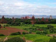 Пагода bagan, Мьянма Стоковое Изображение RF