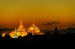 Пагода Bagan Стоковое Изображение