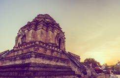 пагода buddist в Чиангмае, Таиланде Стоковое Изображение RF