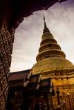 Пагода Hariphunchai Стоковое Изображение