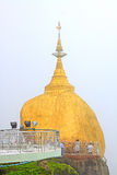 Пагода Kyaiktiyo или золотой утес, Мьянма Стоковая Фотография