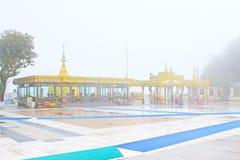 Пагода Kyaiktiyo или золотой утес, Мьянма Стоковые Фото