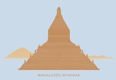 Пагода Mingalazedi Стоковое Изображение RF