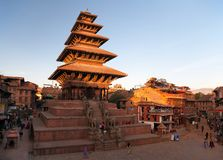 Пагода Nyatapola на квадрате Taumadhi в Bhaktapur Стоковые Фотографии RF