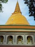 Пагода (Phra Pathom Chedi) 3 Стоковое Изображение RF