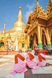 Пагода Shwedagon в Янгоне, Мьянме Стоковые Изображения