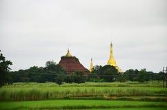 Пагода Shwemawdaw Paya stupa расположенное в Bago, Мьянме Стоковые Фотографии RF
