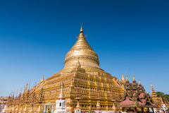 Пагода Shwezigon стоковое фото