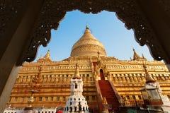 Пагода Shwezigon Стоковое Изображение