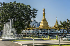 Пагода Sule в Янгоне Стоковое Изображение RF