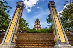 Пагода Thien Mu, Вьетнам стоковое фото rf