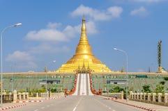 Пагода Uppatasanti - отрицательный ответ Pyi Taw стоковые изображения