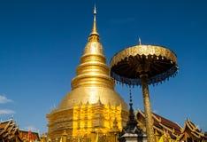 Пагода Wat Phra которая Hariphunchai Стоковые Изображения RF