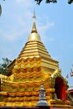 Пагоды Wat Phan в Чиангмае Стоковые Изображения RF