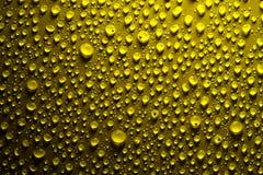 падает желтый цвет поверхностной вода Стоковое Изображение RF