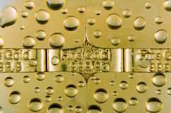 падает золото Стоковое Фото