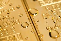 падает золото Стоковое Изображение