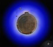 падает планета ночи Стоковая Фотография RF