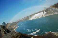 падает радуга niagara Стоковая Фотография