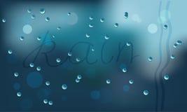 падает стекло влажное Стоковая Фотография RF
