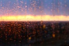 падает стеклянное окно воды дождя Стоковая Фотография RF