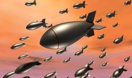 падать бомб иллюстрация вектора