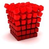 Падать врозь кубик иллюстрация вектора