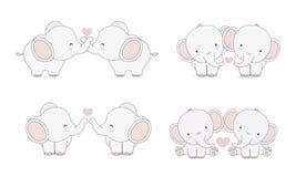 Падать в слонов любов бесплатная иллюстрация