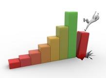 падать кризиса принципиальной схемы дела econonmic Стоковое Изображение RF