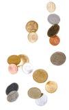 падать монеток Стоковые Изображения