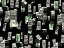 Падать счетов доллара Стоковые Изображения RF