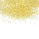 Падая векторная графика Confetti золота Белая предпосылка Мягкий дизайн плана иллюстрация вектора