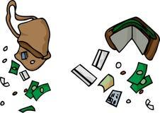 падая деньги Стоковая Фотография RF