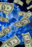 падая деньги Стоковая Фотография