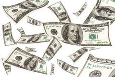 падая деньги Стоковое фото RF