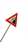 падая дорога трясет знак Стоковое фото RF
