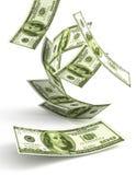 падая зеленые деньги 3d Стоковое Изображение