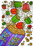 Падая иллюстрации попкорна Стоковое фото RF