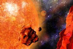 падая камень гигантской звезды иллюстрация вектора