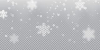 Падая предпосылка картины снежинки белых холодных снежностей overlay текстура изолированных на прозрачной предпосылке Снег f Xmas иллюстрация вектора
