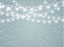 Падая снег на прозрачной предпосылке искры Абстрактная предпосылка снежинки также вектор иллюстрации притяжки corel иллюстрация вектора