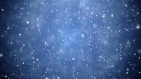 падая снежинки акции видеоматериалы