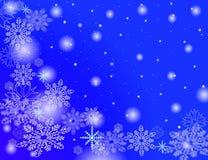 падая снежок хлопьев Стоковые Изображения