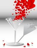 падая стеклянные сердца Стоковая Фотография RF