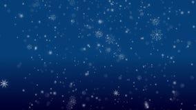 Падая хлопья петли снега голубой акции видеоматериалы