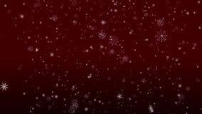 Падая хлопья петли снега красной акции видеоматериалы