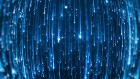 Падая яркие частицы Starfall на темной предпосылке с сияющими и накаляя звездочками looped сток-видео