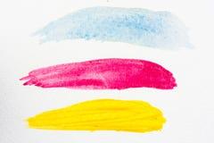 Падение акварели выплеска акварели абстрактного искусства стоковое фото rf